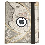 iPad 2 Stylish Map Pattern 360° Rotating Smart Cover PU Leather Case w/ Rotating Stand (For iPad 2 only, will not fit iPad 3)
