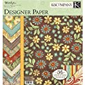 "Wild Saffron Double-Sided Designer Paper Pad 12""X12"" 36/Shts-3 Each Of 12 Designs"
