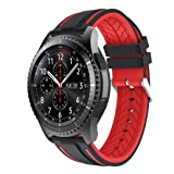 NewKelly Sports Silicone Bracelet Strap Band For Samsung Gear S3 Frontier (Color: Red)