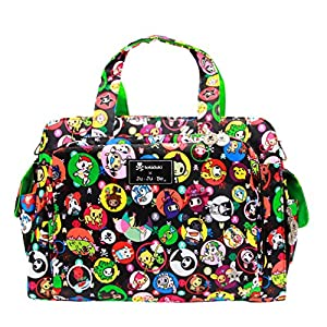 Ju-Ju-Be Be Prepared Diaper Bag - Tokidoki Bubble Trouble - Black/Green by Ju-Ju-Be