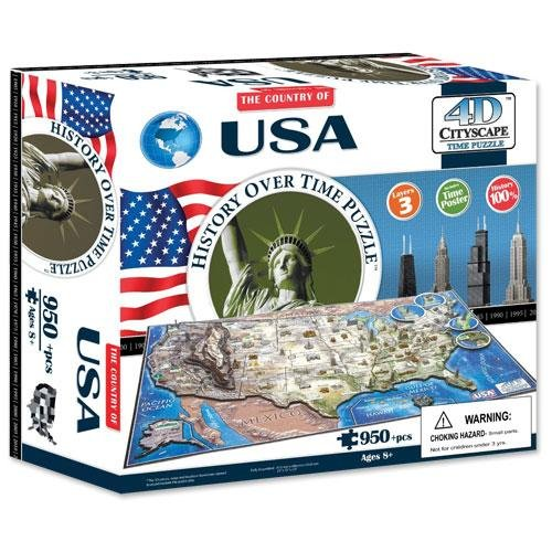 4d Cityscape TCYS-08 4D USA Cityscape Time Puzzle (Mount Rushmore Model compare prices)