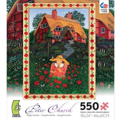 Poppy Garden - 550 Piece Jigsaw Puzzle