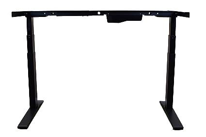 Rise Up–elettrico regolabile in altezza scrivania da ufficio ergonomica, da scrivania, tavolo sit-to-stand (solo telaio) Black