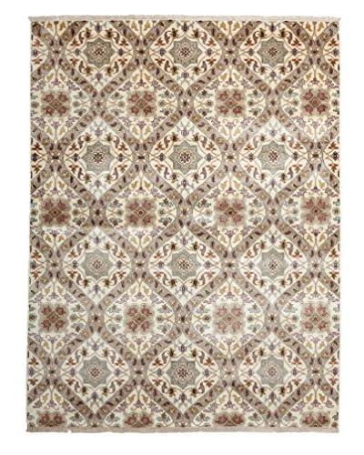 """Darya Rugs Ikat Oriental Rug, Ivory, 5' 1"""" x 6' 8"""""""