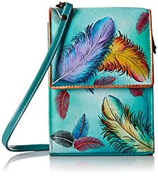 Anuschka Mini Sling Organizer FFTS, Floating Feathers, One Size