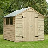 7 x 7 Shed Republic Essential Pressure Treated Overlap Apex Double Door Shed
