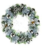 Santa Stores- Metallic Silver Wreath