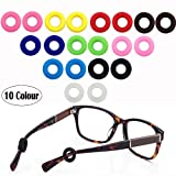 MOLDERP Kids and Adults Ear Hooks for Glasses Silicone Anti-Slip Round Comfort Glasses Retainers, Eyewear Retainer, Spectacle Glasses Temple Tip, Sport Eyeglass Holder,10 pairs (Color: Multicolored, Tamaño: Small)