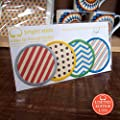 Bright Stem 4 Sew On Patches Badges, Polka Dots, Zig Zags and Stripes