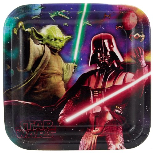 Star Wars The Force 9 Inch Dinner Plates - 8/Pkg. by Official Costumes