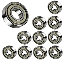 10-PIECES Ball Bearing 608 ZZ, 8x22x7mm, Shielded Deep Groove 608Z Metric By Jeremywell
