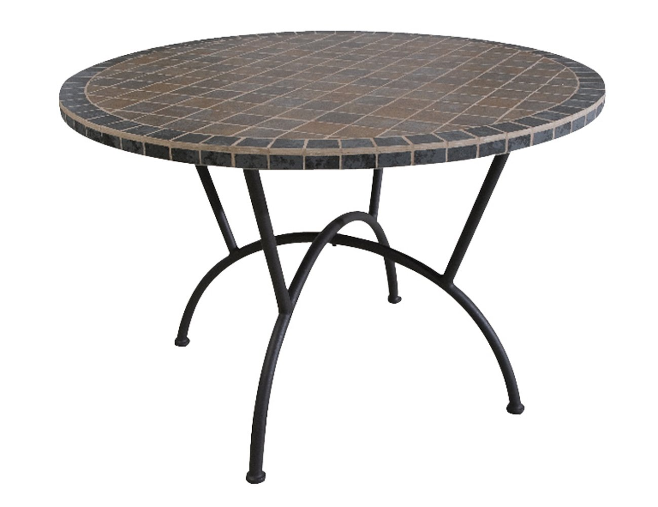 Siena Garden 431288 Tisch Ponza, schwarz, MosaikKeramikoberfläche, Stahlgestell, Ø 110 x H 72, 5 cmKundenberichte und weitere Informationen