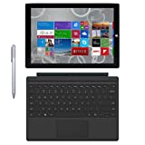 Microsoft Surface Pro 3 Tablet (12-inch, 128 GB, Intel Core i5, Windows 10) + Microsoft Surface Type Cover (Certified Refurbished) (Color: Silver, Tamaño: 128GB)