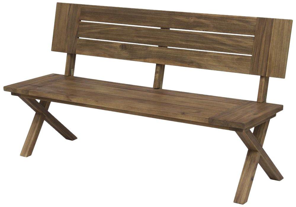 Siena Garden 254811 Bank Rotondo Akazienholz FSC® 100% sandgestrahlt Beschläge aus galvanisiertem Stahl