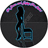 Fifty Shades of Grey inspired Hot Sexy Naughty Enjoy the Ride Neon 7.5 inch Icing Cake Topper Design by Baking Bling