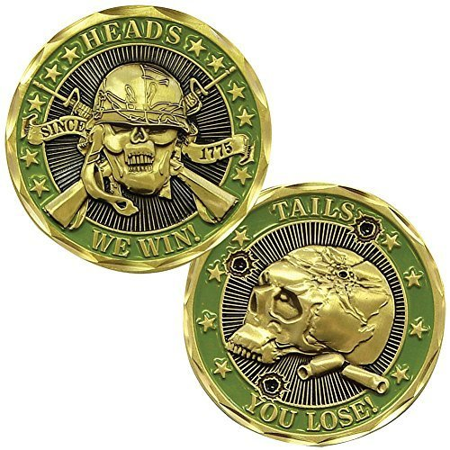 Heads We Win Tails You Lose Challenge Coin - Officially Licensed By US Army (Heads And Tails Coin compare prices)