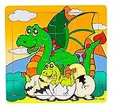 Ularma Madera de los cabritos 16 pieza rompecabezas juguetes para la educaci�n de los ni�os y Puzzles juguetes de aprendizaje (multicolor9)