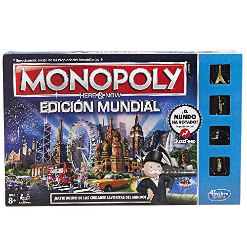 Hasbro Gaming - Monopoly, edición mundial, juego de mesa (B2348105) (versión española)