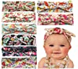 Qandsweet Baby Girl Elastic Hair Hoops Headbands (8pack 0-48m)