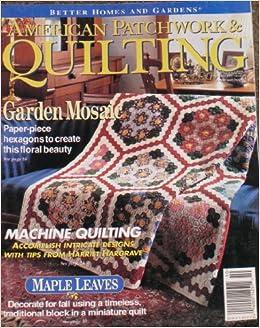 American Patchwork Quilting Magazine October 1995 Volume