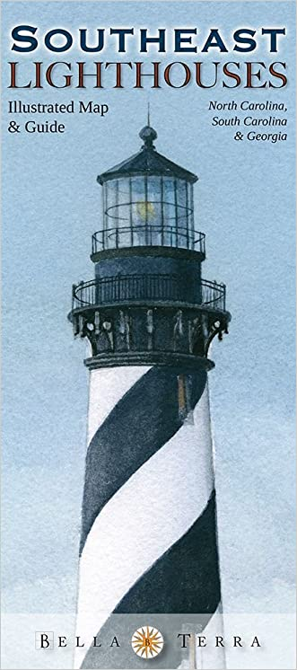 Southeast Lighthouses Illustrated Map & Guide: North Carolina, South Carolina & Georgia