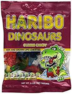 Haribo Dinosaurs Candy, 5-Ounce (Pack of 12)