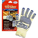 Yuns The Ove Glove 540° F Hot Surface Handler of Single Glove - Elaborate Top Class BBQ glove, Heat Resistant Oven Gloves Withstand Extreme Heat, Flexibale 5 Finger Oven Mitt for Grill, Cooking and Fireplace - single glove
