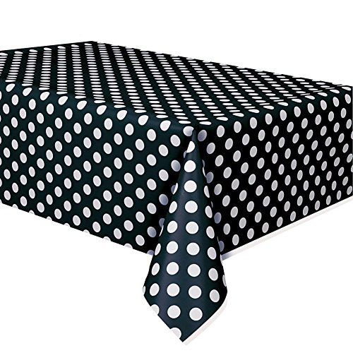 Black Polka Dot Tablecover