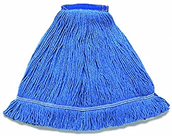 "Wilen A01213, Hospital Pro M Antimicrobial Wet Mop, Large, 1-1/4"" Tape Band, Blue (Case of 12)"