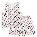 Baby Toddler Underwear Set Infant Vest&Shorts 2 Pieces Printing Red&Blue 3-6M from Blancho Bedding
