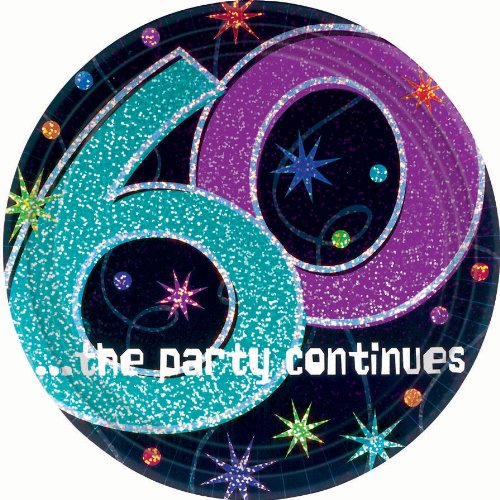 The Party Continues 60th Birthday Dessert Plates 8ct