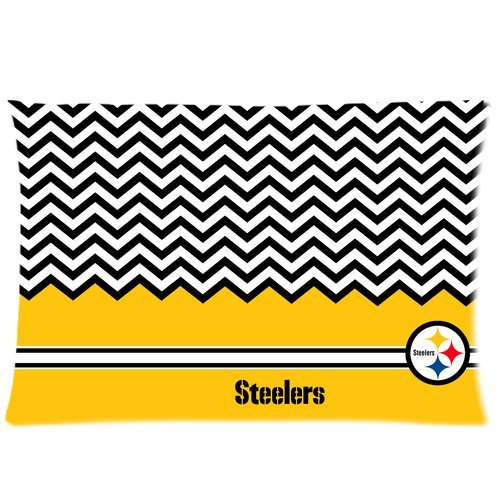 Personalized Artsy NFL Pittsburgh Steelers Custom Rectangle Pillowcase Pillow Cases Cover 20x30 (one side) Standard Size Chevron Pattern at Amazon.com