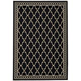 "Safavieh Courtyard Collection CY5142D Black and Beige Area Rug, 5 feet 3 inches by 7 feet 7 inches (5'3"" x 7'7"")"