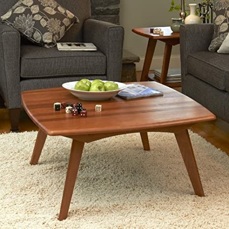 Manchester Wood Retro Square Coffee Table - Auburn Beech