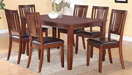 7-Pc Dining Set with Rectangular Table