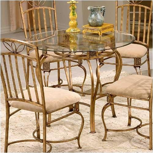 Buy Low Price Scottsdale Round Dining Table With Glass Top – 40387-35 (B001I6QEUK)