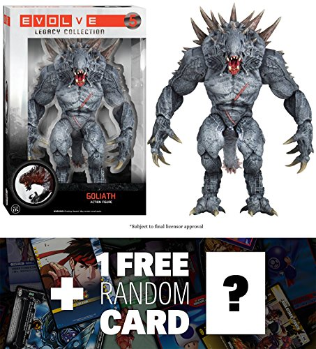 Goliath: Funko Legacy Collection x Evolve Action Figure + 1 FREE Video Games Themed Trading Card Bundle [52980]