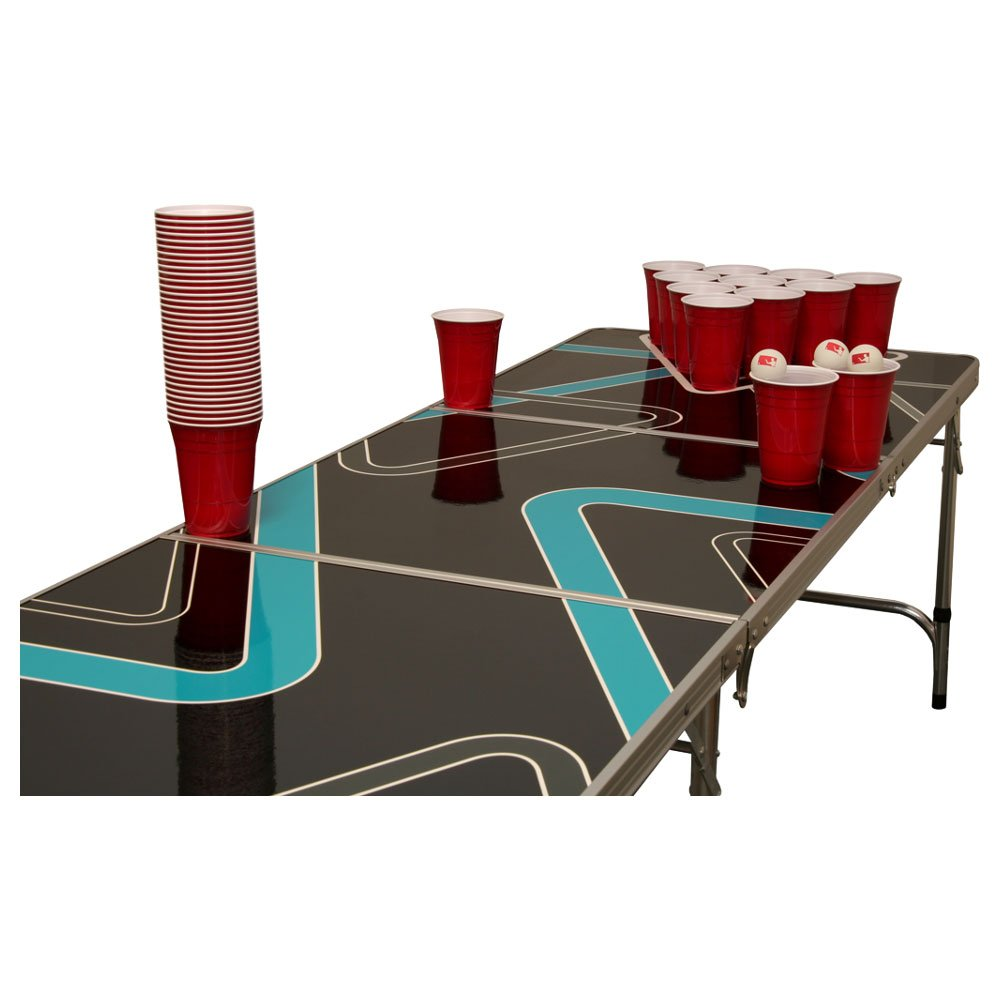 Triangle Beer Pong Tisch Set - 1 Beer Pong Tisch inkl. 50 SOLO Red Cups und 6 Bällen