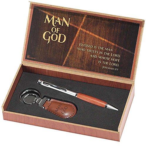 Pen and Keyring Set - Man of God - Jeremiah 17:7