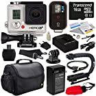 GoPro HD Hero3+ Hero 3+ Black Edition (CHDHX302) with Best Value Special Edition Bundle Accessory Kit includes - 16GB MicroSD + Battery + Charger + European Adapter + Action Grip Handle + Case + HDMI Cable + Floating Strap + Tripod Adapter Mount + Cleaning Kit