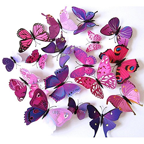 fly-spray-3d-purple-butterfly-removable-mural-wall-stickers-wall-decal-for-home-decorfba