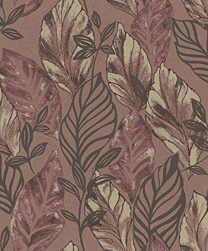 parato-natura-2028-carta-da-parati-di-grandi-foglie-con-fondo-colore-melanzana