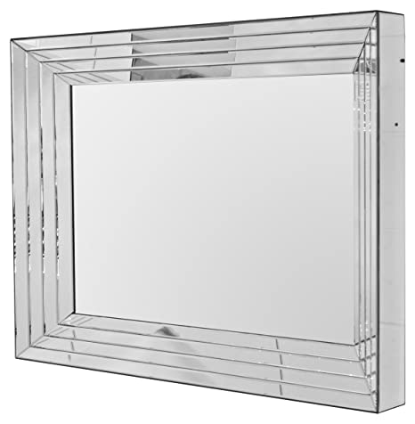 Febland Manhattan Wall Mirror, Glass, Mirrored