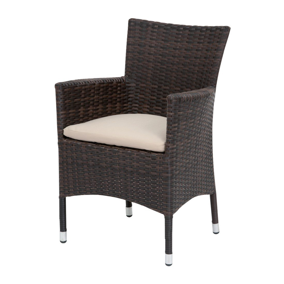 Siena Garden 654838 Sessel Bern, bi-color mocca L 61 x B 60 x H 89 cm günstig online kaufen