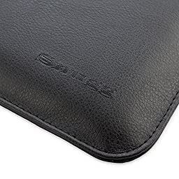 Snugg Macbook 12 Inch Case - Leather Sleeve Case with (Black) for Apple MacBook 12 with Retina