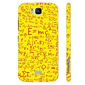Huawei Honor Bee Einstein Energy Yellow designer mobile hard shell case by Enthopia