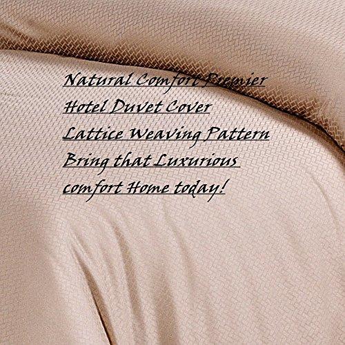 Natural Comfort Premier Hotel Select Duvet Cover, King, Lattice/Champagne front-539694