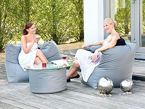 Outdoor Sitzsack Caribbean Armsessel 90x65cm anthrazit Sitzsessel Gartenmöbel Gartensessel günstig