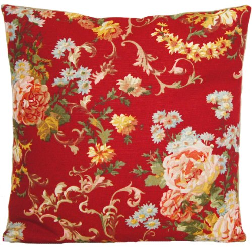Cushion Pillow Cover Ralph Lauren Fabric Vintage Look Red Briarcliff