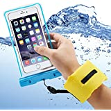 Accmor Waterproof Case with Floating Wrist Strap IPX8 Certified Waterproof Bag for Waterproof iPhone 6 Plus, 6 5S 5C 5 4S, Samsung Galaxy S6, S5, S4, S3, Note 4, Note 3, Note 2, LG G4 G3 G2 Cell Phone